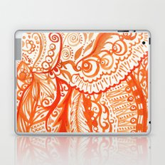 orange brushstroke Laptop & iPad Skin
