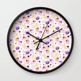 Floral donuts Wall Clock