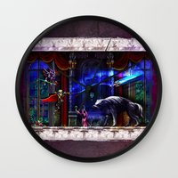 castlevania Wall Clocks featuring Castlevania Verboten by likelikes