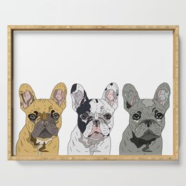 Triple Frenchies Serving Tray