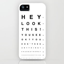 Look this! iPhone Case