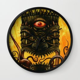 LovecrafTiki Wall Clock