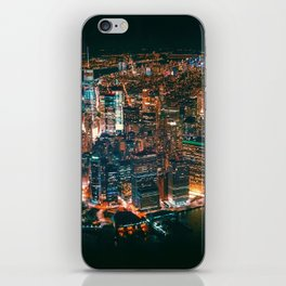 City of Lights New York City (Color) iPhone Skin