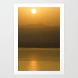 Golden brown1 Art Print