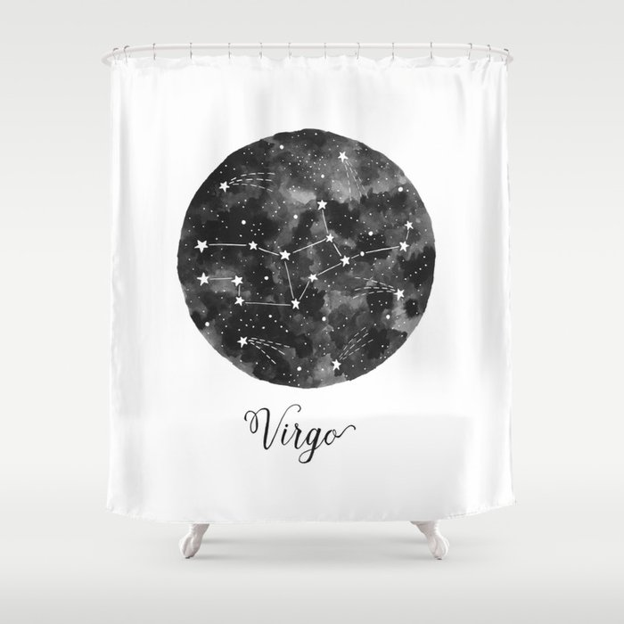 Virgo Constellation Shower Curtain By Amynelson