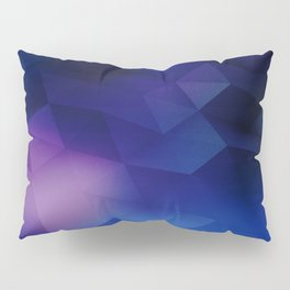 blue abstraction triangles abstract background geometric abstraction Pillow Sham