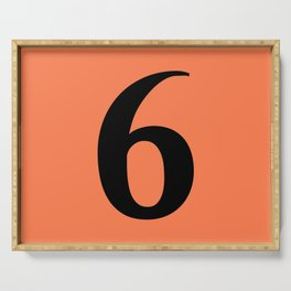 6 (BLACK & CORAL NUMBERS) Serving Tray