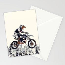 """High Flyer"" Motocross Racer Stationery Cards"