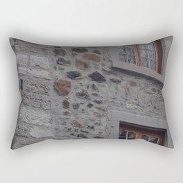 Old Montreal Stone Wall Rectangular Pillow
