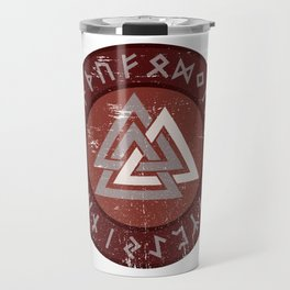 Valknut | Viking Warrior Symbol Triangle Travel Mug