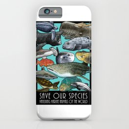 Save Our Species: Vanishing Ocean Animals of the World iPhone Case