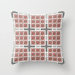 Graph 4 on Grey Throw Pillow