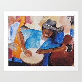 Coastal Musicians Art Print