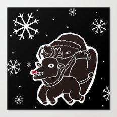 black christmas Canvas Print
