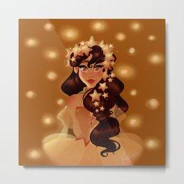 Stars Princess Metal Print