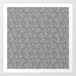 Line Texture, Black Art Print