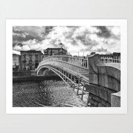 Ha'Penny Bridge in Dublin Art Print