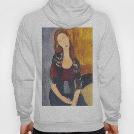 Jeanne Hebuterne woman portrait by Amedeo Modigliani Hoody