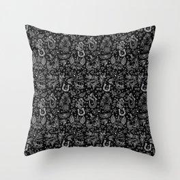Old School Tattoo Pattern Throw Pillow