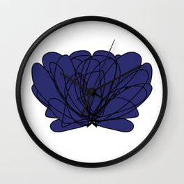 Lettuce vegetable BLUE Wall Clock