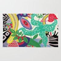 rio de janeiro Area & Throw Rugs featuring RIO DE JANEIRO 001 by Maca Salazar