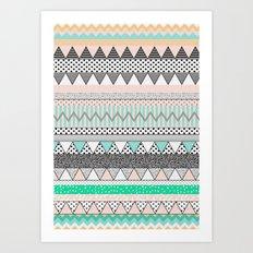 CHEVRON MOTIF Art Print