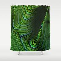 malachite Shower Curtains featuring Malachite by Vix Edwards - Fugly Manor Art