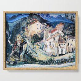 Chaim Soutine - View of Cagnes - Digital Remastered Edition Serving Tray
