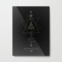 Aquarius Zodiac Constellation Metal Print