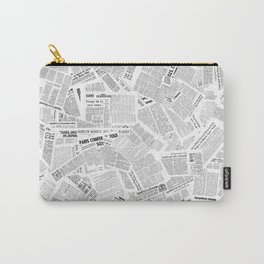 Newspaper Print Carry-All Pouch