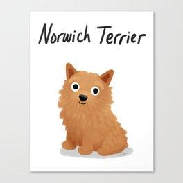 Norwich Terrier - Cute Dog Series Canvas Print