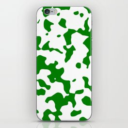 Large Spots - White and Green iPhone Skin