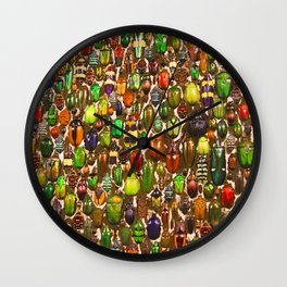 Army of Beetles and Bugs Wall Clock