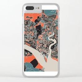 Southampton Multicoloured Print Clear iPhone Case