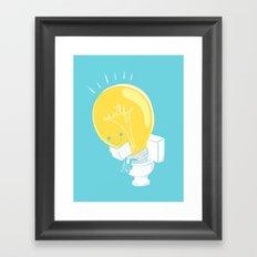 WTF! Shitty Idea! Framed Art Print