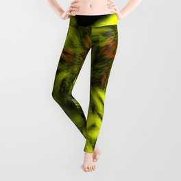 Neon Flowers 8 Leggings
