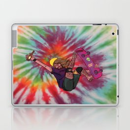 SKATER JESUS WITH BEER AND EL BARTO TATTOO Laptop & iPad Skin