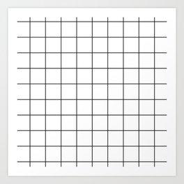 grid pattern Art Print