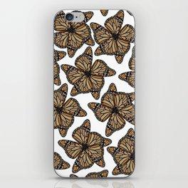 butterfly flowers iPhone Skin
