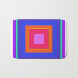 Squares in Purple, Blue, Red, Pink Bath Mat