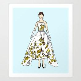 Audrey Hepburn Vintage Retro Fashion 2 Art Print