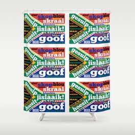 South African slang and colloquialisms Shower Curtain
