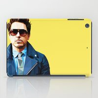 robert downey jr iPad Cases featuring Robert Downey Jr - Low Poly Vector Art by khitkhat