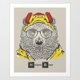 Heisenbear Art Print