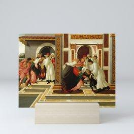 Sandro Botticelli - Last Miracle and the Death of St. Zenobius Mini Art Print