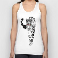 snow leopard Tank Tops featuring Snow Leopard by Shahbab