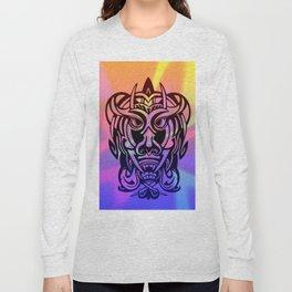 Vicious Tribal Mask 010 Long Sleeve T-shirt