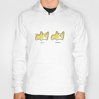 corgi Hoodies featuring CORGI sit, CORGI down by ohmycorgi