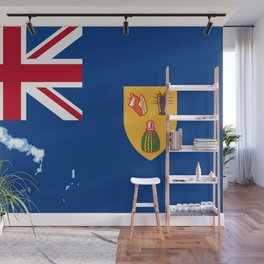 Turks and Caicos Islands TCI Flag with Island Maps Wall Mural