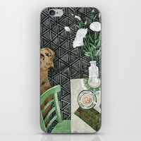 labrador iPhone & iPod Skins featuring Geometry Labrador by Yuliya